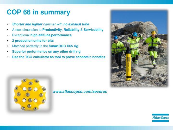 COP 66 in summary
