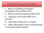 exit slip january 29 2014