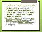innate vs acquired immunity