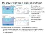 the answer likely lies in the southern ocean