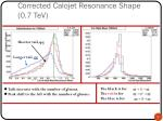 corrected calojet resonance shape 0 7 tev