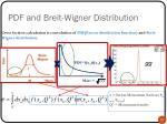 pdf and breit wigner distribution