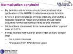 normalisation constraint
