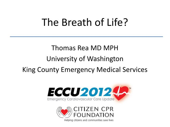 the breath of life n.