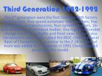 third generation 1982 1992