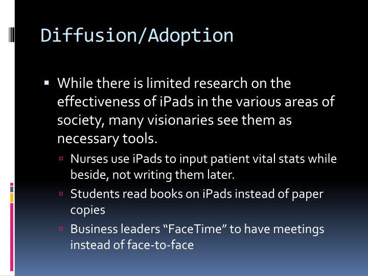 Diffusion/Adoption