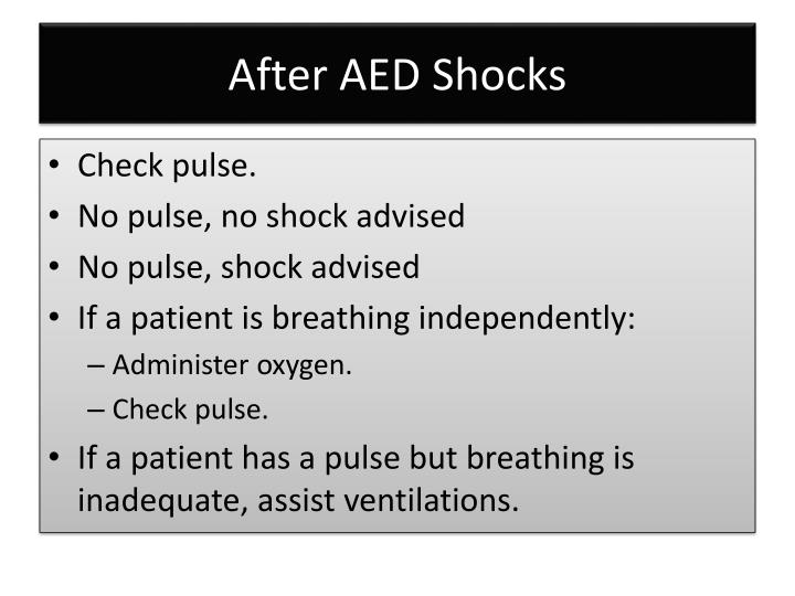 After AED Shocks