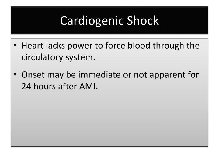 Cardiogenic