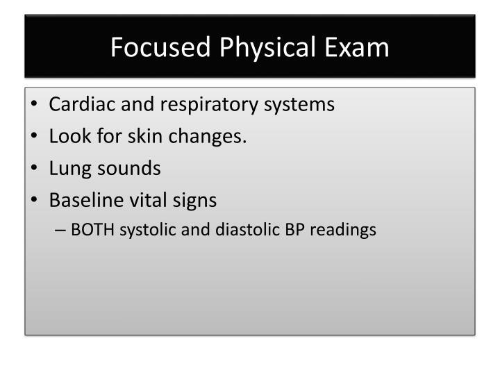 Focused Physical Exam