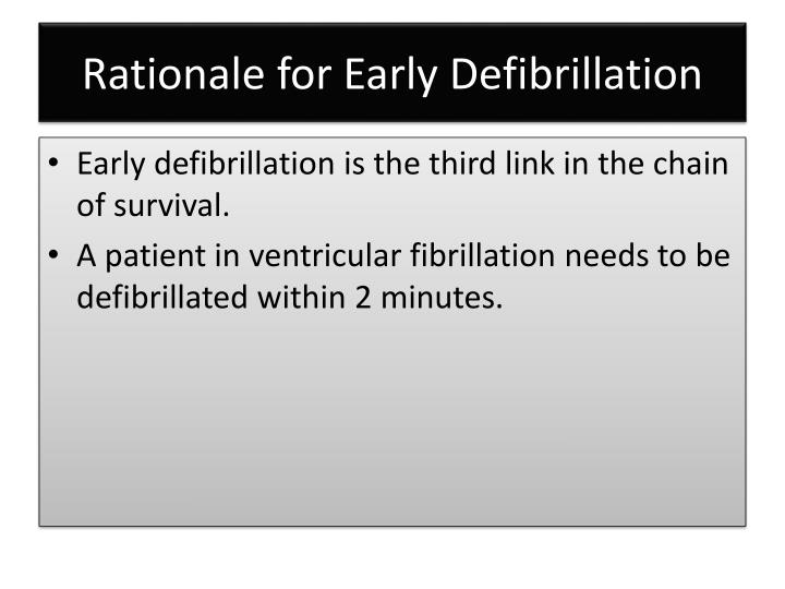Rationale for Early Defibrillation