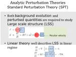 analytic perturbation theories standard perturbation theory spt