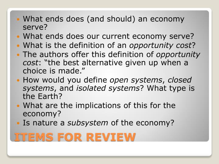 What ends does (and should) an economy serve