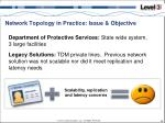 network topology in practice issue objective
