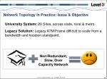 network topology in practice issue objective1