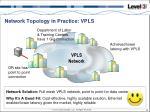 network topology in practice vpls