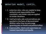weberian model contin