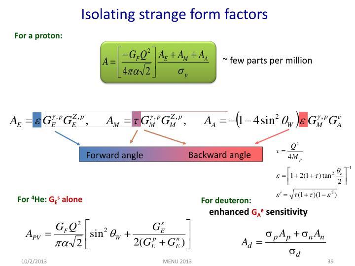Isolating strange form factors