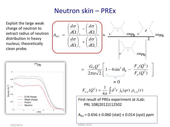Neutron skin –