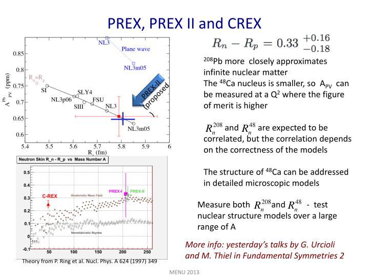 PREX, PREX II and CREX