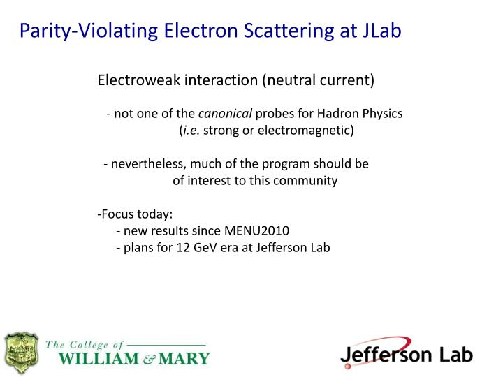 Parity-Violating Electron Scattering at