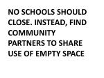 no schools should close instead find community partners to share use of empty space