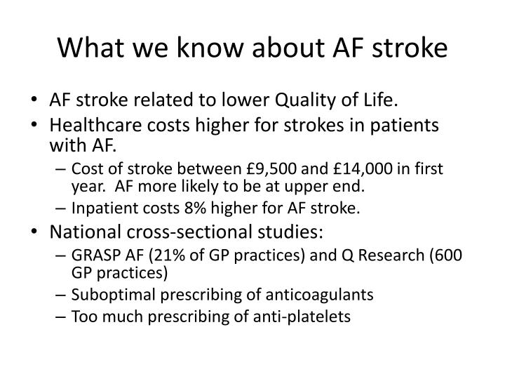 What we know about af stroke