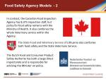 food safety agency models 2