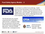 food safety agency models 3