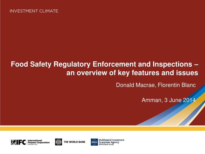 food safety regulatory enforcement and inspections an overview of key features and issues n.