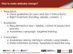 how to make attitudes change