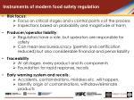 instruments of modern food safety regulation