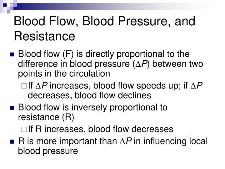 Blood Flow, Blood Pressure, and Resistance