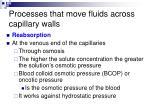 processes that move fluids across capillary walls1