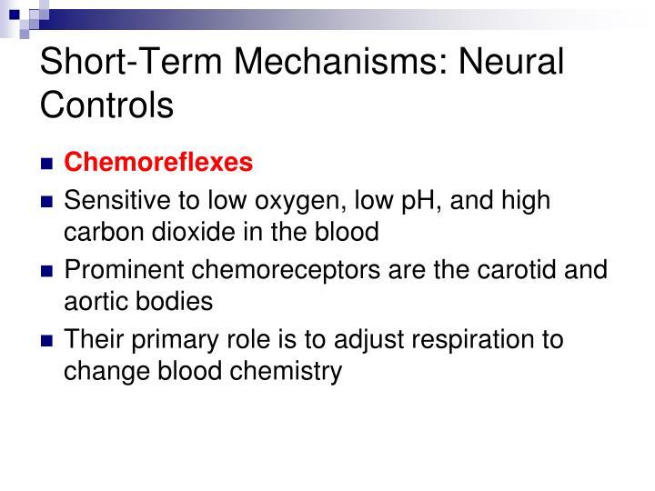 Short-Term Mechanisms: Neural Controls
