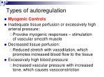 types of autoregulation1