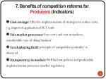 7 benefits of competition reforms for producers indicators