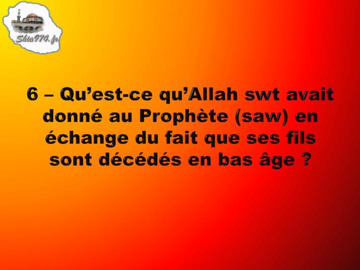 6 – Qu'est-ce qu'Allah