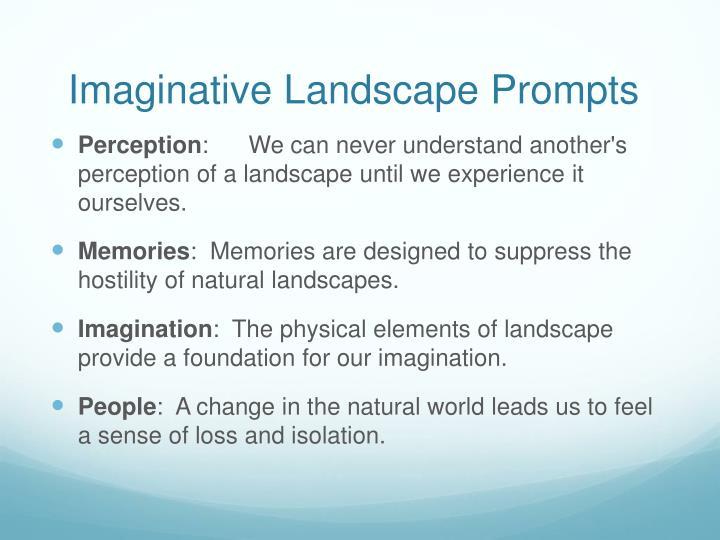 Imaginative Landscape Prompts