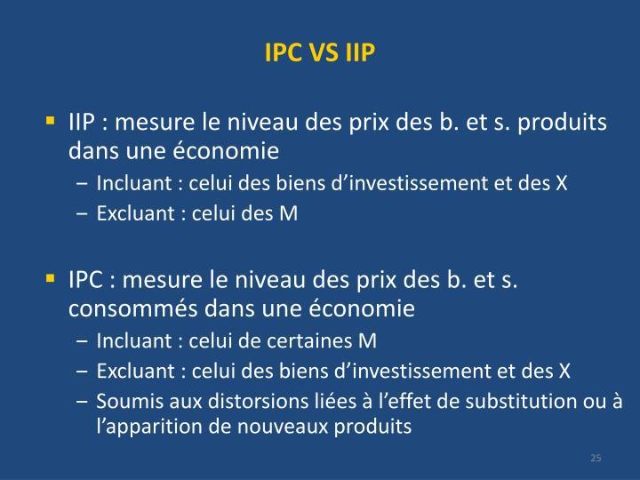 IPC VS IIP
