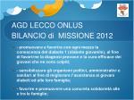 agd lecco onlus bilancio di missione 20121