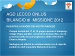 agd lecco onlus bilancio di missione 20124