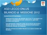 agd lecco onlus bilancio di missione 20125