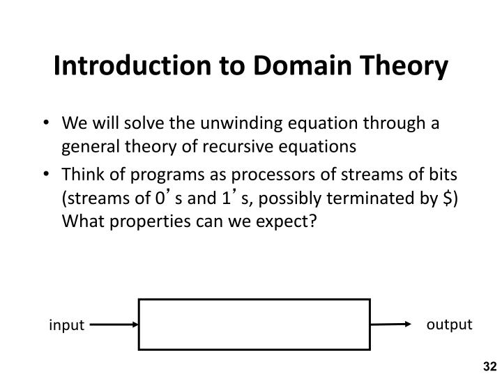 Introduction to Domain Theory
