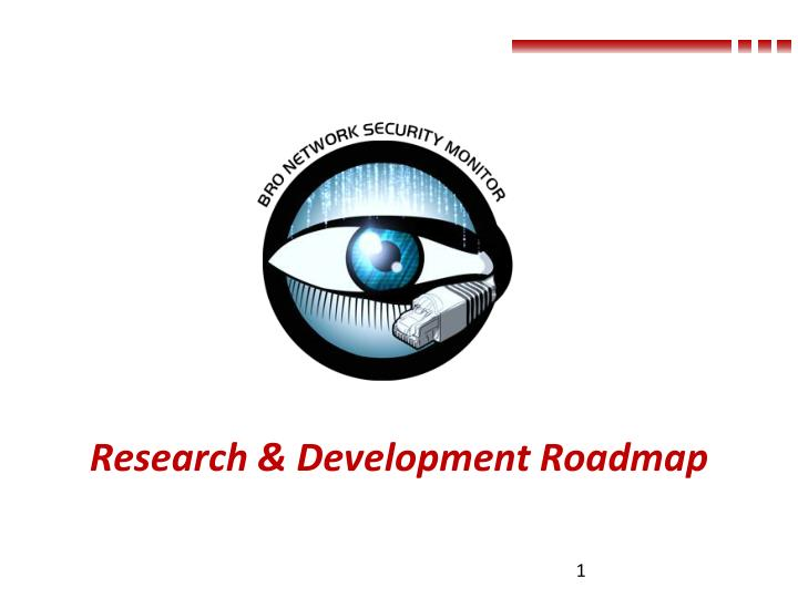 research development roadmap n.