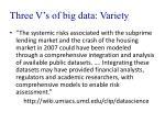three v s of big data variety1