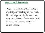 how to use think a louds