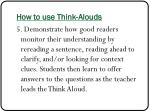 how to use think alouds4