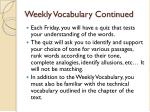 weekly vocabulary continued