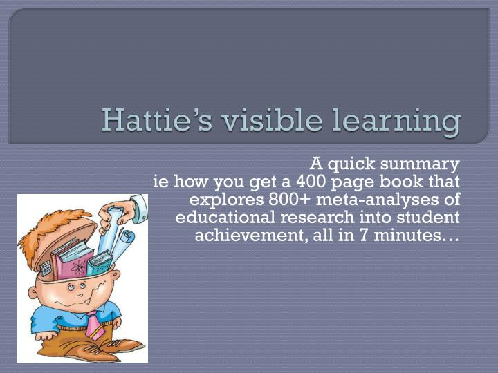 hattie s visible learning n.
