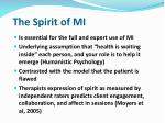the spirit of mi